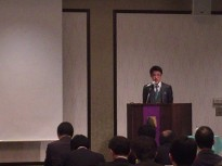 Kouichi Kajisaki during Unius 20th Anniversary Seminar
